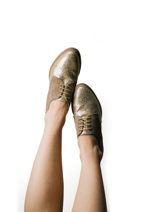 Gold women's loafers? A new twist on Dorothy in Oz maybe?