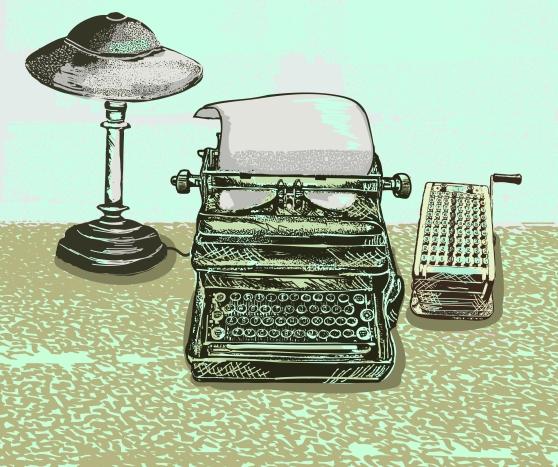 Typewriter illustration